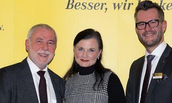 Gitta Connemann im Gespräch mit Michael Wippler (links) und Daniel Schneider.
