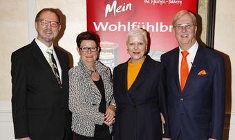 Familienteam der Mestemacher-Gruppe (von links): Fritz Detmers, Helma Detmers, Prof. Dr. Ulrike Detmers und Albert Detmers.