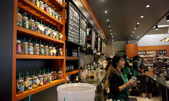 """Cold Brew"" Event in einer Starbucks-Filiale in Los Angeles."