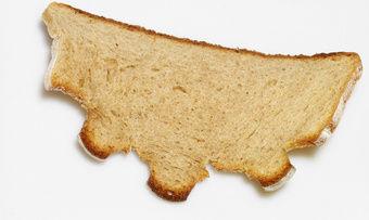 Rohstoff fürs Bier: eine Scheibe trockenen Brotes
