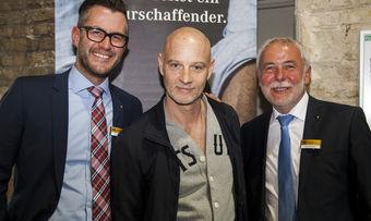 Drei fürs Brot (von links): Daniel Schneider, Hauptgeschäftsführer des Zentralverbands, Brotbotschafter Simon Licht und der Präsident des Zwecksverbands, Michael Wippler.