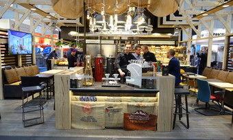 Dieser, im März auf der Internorga präsentierte Laden enthält viele Elemente im Vintage-Stil aus natürlichen Materialien.