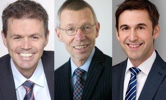 Joachim Eckert (links), künftig alleiniger Geschäftsführer des Matthaes Verlags, Dr. Clemens Knoll (Mitte), bisheriger Geschäftsführer, und Frank Hanna, künftiger Verlagsleiter und Prokurist.
