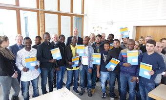 Diese Flüchtlinge sind für die Arbeit in Bäckereien qualifiziert worden.