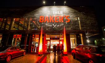 """Der Eingang des neuen Geschäfts der Bäckerei Ihle: Das """"Ihle Baker's"""" in Lechhausen."""