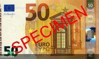 So sieht er aus, der neue 50€-Schein der EZB.