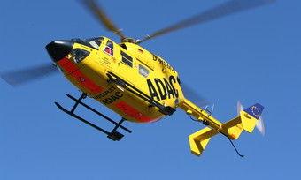 Der Bäcker musste mit einem Rettungshubschrauber in eine Spezialklinik geflogen werden.