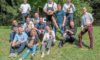 Die Fachleute des Deutschen Brotinstituts und des Deutschen Weininstituts bei ihrem ersten Treffen in Weinheim.