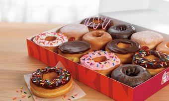 Das Hauptgeschäft von Dunkin' Donuts ist die Veredelung von Donuts.