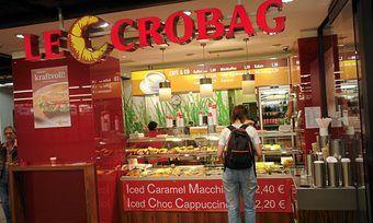 Der Schwerpunkt von Le CroBag liegt auf Kleingebäck und Getränken.