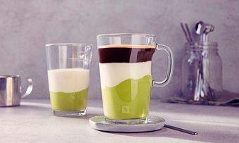 Geschichtet wie ein Latte Macchiato: der Frühstücks-Shake Avocado Coffee.