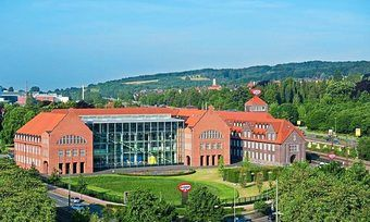 Blick auf den Dr. Oetker-Standort in Bielefeld.
