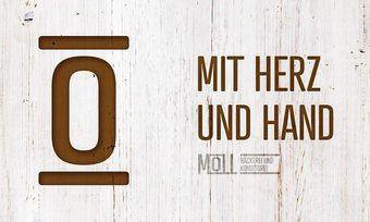 Jetzt preisgekrönt: Neues Logo in modernen Design der Bäckerei Moll.