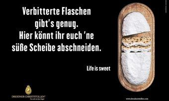 Plakat-Werbekampagne der Dresdner Stollenbäcker.