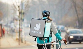 Auch in deutschen Städten sind die Essenskuriere von Deliveroo unterwegs.