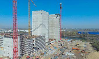 Die Bauarbeiten am Rohbau der Castellmühle kommen laut Good Mills gut voran.