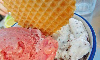 Läuft: Das Eisgeschäft - ab Mai auch mit Bahlsen-Eis, bei dem die Waffel ins Eis wandert.