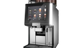 Dieser Vollautomat bietet zwei Arten von Kaffee.