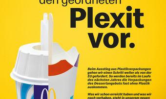 So wirbt McDonald's für seinen Plastikausstieg.