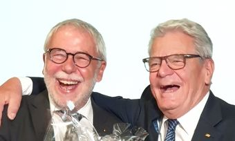Zwei, die sich zu verstehen scheinen: Michael Wippler und Joachim Gauck.