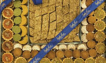Traditionelle Süßwaren, hergestellt im alteingesessenen Familienunternehmen Safi Sweets.