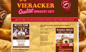 Die Bäckerei Vieracker muss endgültig ihre Porten und ihre Homepage schließen.