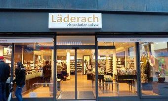 Außenansicht der Läderach-Filiale in Stuttgart.