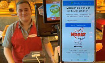 Zahlreiche Bäcker kommen der Bonausgabepflicht mit dem elektronischen Kassenbon nach.