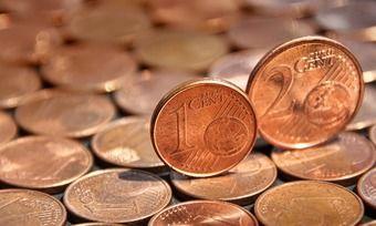 Aufwändig und umständlich im Handling: Ein- und Zwei-Cent-Münze.