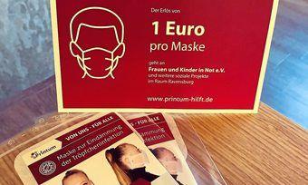 Die Schutzmasken liegen ab sofort in den Filialen der Bäckereien Hamma, Frick und Hausmann zum Kauf aus.