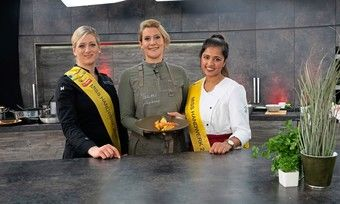 Gemeinsam zum High End Asia Food (v.l.): Marie Simon, Julia Komp und Priyanka Balamohan.