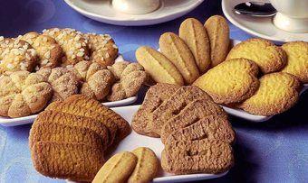 Süße Knabbertikel wie Kekse sind das Hauptgeschäft der Unternehmen der Süßwarenindustrie.
