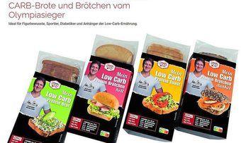 Brot, Brötchen und Toastbrotvariante: die Low-Carb-Produktlinie von Matthias Steiner.
