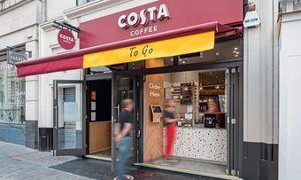 Die Kaffeebar-Kette Costa will in Deutschland expandieren, neben Filialen wie dieser werden auch Automaten aufgestellt.